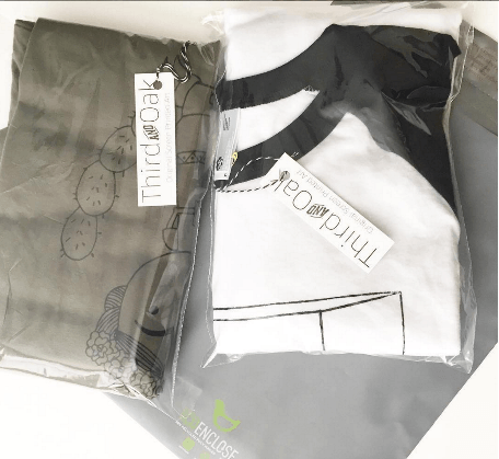 88% recycled poly mailers for apparel